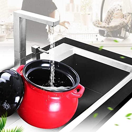 QIXIAOCYB Casserole Pan Casserole Casserole Casserole, cocina, olla de gachas resistente al calor, olla de cerámica de gas, fácil de limpiar, sin resbalones, dos asas Cazuela (Size : 6000ML)
