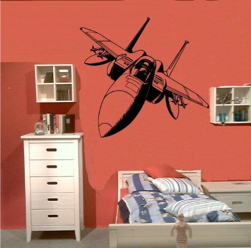 Preisvergleich Produktbild Zertifikato Wandtattoo Wandbild 198 Kampf Jet Tomcat F-14 Flugzeug