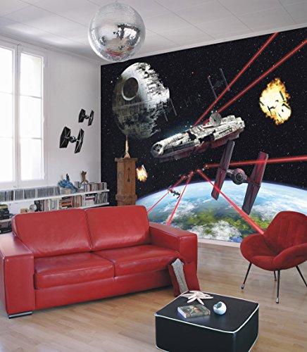 Komar - Fototapete STAR WARS MILLENNIUM FALCON - 368 x 254 cm - Tapete, Wand, Dekoration, Wandbelag, Wandbild, Wanddeko, Galaxy, Erde, Raumschiff - 8-489