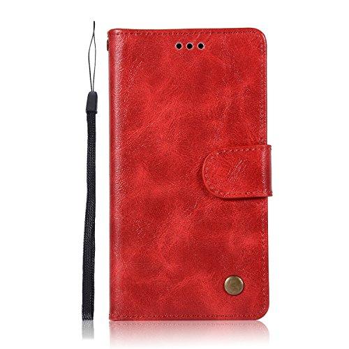Sunrive Hülle Für Lenovo Moto G4 Play, Magnetisch Schaltfläche Ledertasche Schutzhülle Etui Leder Hülle Cover Handyhülle Schalen Handy Tasche Lederhülle(N-Ro)+Gratis Eingabestift