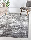 Unique Loom 3134093 Sofia Collection Traditional Vintage Beige Area Rug, 8' 0 x 10' 0 Rectangle, Gray
