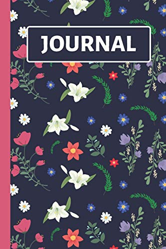Journal: Pretty Blue Floral Flower Journal / Notebook to Write in