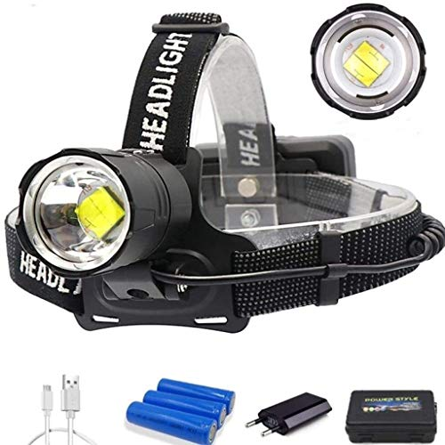 LDL-Head-Fackel 90000LM leistungsstarker XHP70.2 / XHP50 LED-Scheinwerfer-Scheinwerfer 3Mode-Zoom-Kopflampe-Taschenlampe-Fackel-Laterne for Outdoor-Angelcamping V6 40000LM (Color : Xhp70.2 90000lm)