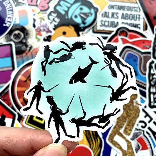 Buceo deportes al aire libre Personalidad Viaje Li Trolley Case Refrigerador Skateboard Laptop Sticker Pintura Impermeable 40pcs