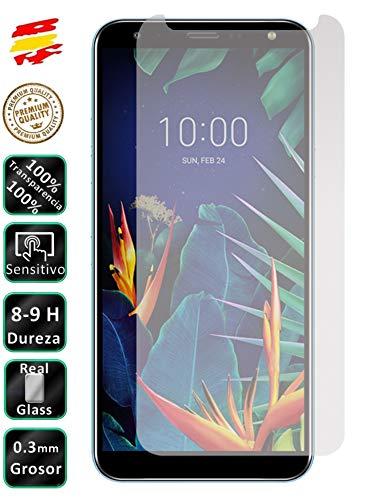 Movilrey Protector para LG K40 Cristal Templado de Pantalla Vidrio 9H para movil