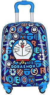 MissTiara - 18 Inch Lightweight Kid's Travel Luggage suitcase Children School Trolley bag Cartoon Rolling Bag on wheels (Doraemon)