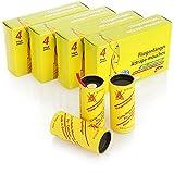 com-four® 16x Trappola per Mosche Premium - Trappola Adesiva Eco-Naturale - Fly-Catcher Rotoli Contro Insetti Come Mosche, Zanzare e Tignole