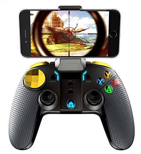 Phil Beauty Gamepad Inalámbrico Bluetooth PG-9118 con L2 / R2 Tiene Función Analógica Y Función De Combinación Turbo para Teléfono Inteligente Tableta iPad PC con Windows
