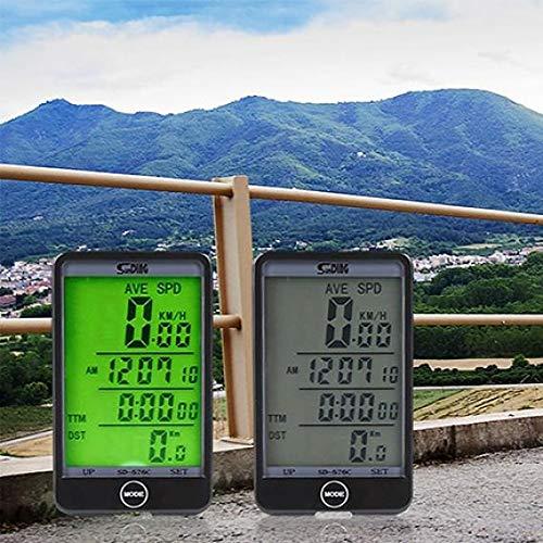 YSHTAN Equipo de Ciclismo Velocímetro MTB Bicicleta Bicicleta Ciclismo Ordenador Cuentakilómetros LCD...