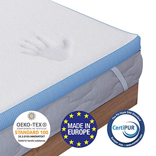 Dreamzie - Memory Foam Mattress Topper Single Bed - 5cm (2 inches) of...