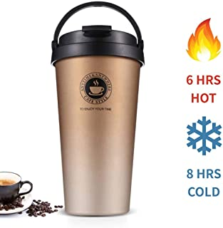 Stainless Steel Vacuum Insulated Coffee Mug with Lid, Perfect Travel Cup for Hot and Cold Drinks, Thermal Coffee and Tea M...