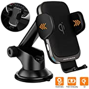 [Updated 2020 Version] Smart Automatic Car Phone Mount with Wireless Charger, 10W Qi Fast Charging Auto-Clamping, Cell Phone Holder for iPhone 11/11 Pro/11 Pro MAX/Xs MAX/XS/XR/X/8/8+, Samsung