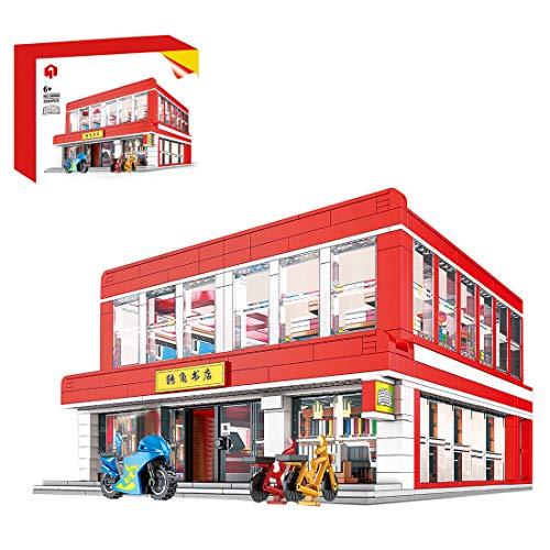Sunbary Esquina librerías, modelo de ladrillos, arquitectura DIY modelo de construcción, casa modular Building, 2353 piezas de bloques de sujeción, compatible con Lego