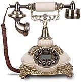 FANPING Antikes Telefon Festnetz-Telefon-Retro- Altertümlich Festnetztelefone Keramik europäisches Telefonfestnetz mit Anrufer-ID-Anzeige for Home Office Decor Telefon