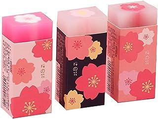 CHBC 3 قطعه / مجموعه دوست داشتنی شکوفه های گیلاس پاک کننده های لاستیکی ساکورا طرح گلبرگ نقاشی ابزار مداد ابزار اصلاح لوازم التحریر مدرسه