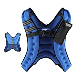 ZELUS Weighted Vest 12 lbs. Weight Vest with Reflective Stripe for Workout, Strength Training,...