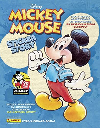 Álbum Mickey 90 Anos (Capa Dura) com 12 Envelopes de Figurinhas