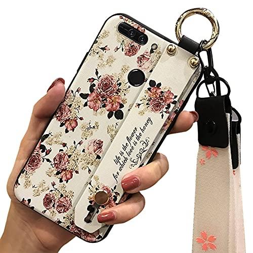 Funda de silicona TPU Lulumi con cordón compatible con Huawei Honor V9/Honor 8 Pro, contraportada para niñas, original y elegante, resistente a la suciedad, color blanco