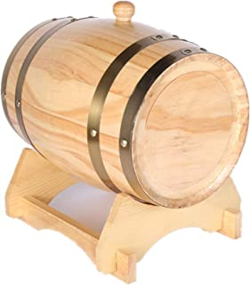 Tonneau à vin en Bois Fût de Whisky 20L, Fût de Chêne avec Support, Bière, Vin, Spiritueux, Port de Whisky Fûts de vin Whi...