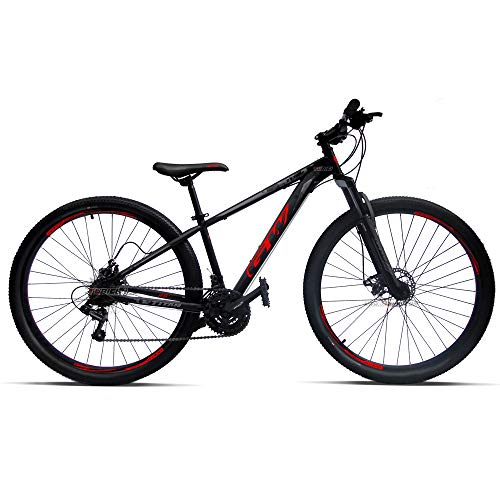 GW Mountain Bike Model Titan, Large (29 inches) Shimano 21 Speed DiscBrake, Black/Red
