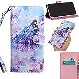 DodoBuy 3D Case for LG K8 2018/K9, Flip Wallet Phone Cover