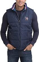 U.S. Polo Assn. Mens Americana Outerwear Vest Printed Collar