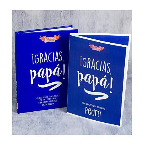 Libro '¡Gracias, papá! con Tarjeta Personalizada, un emotivo y Original Regalo para Padres