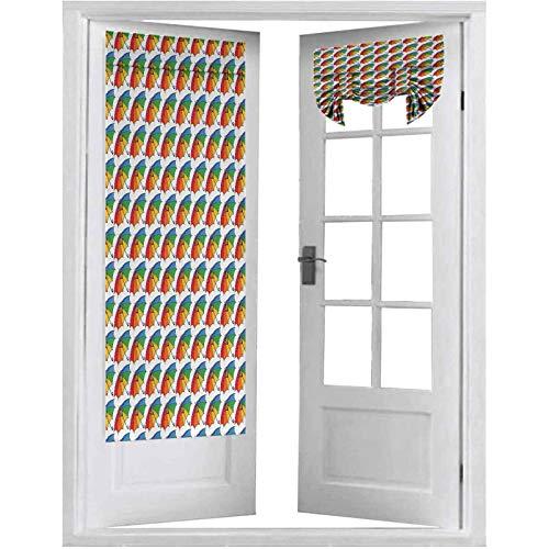 Cortinas francesas para puerta, paraguas clásico abierto con toldo de color arcoíris alegre y de temporada, 1 panel de 66 x 172 cm para ventana, multicolor