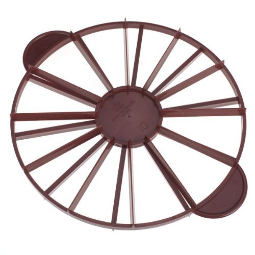 Romote Doppelseitige Kuchenteiler runde doppelseitige Kuchenteiler 10/12 Stücke.