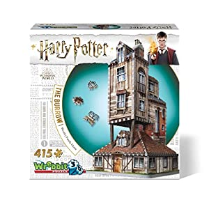 Wrebbit 3D - Harry Potter The Burrow Weasley Family Home 3D Jigsaw Puzzle - 415Piece (W3D-1011) by Wrebbit Puzzles