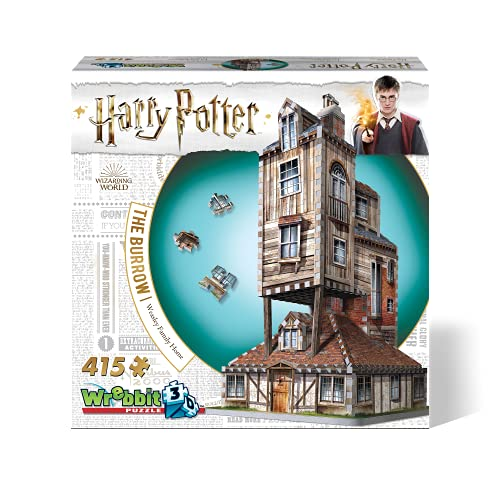 Wrebbit Puzzles W3D-1011 Harry Potter 3D Puzzle, bunt
