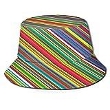 Cappello da Pescatore Unisex,Diagonale a strisce del modello del lecca-lecca della candela di,Cappello da Sole Pieghevole Cappello da Pesca Viaggio Spiaggia Esterno Cappellino Fisherman cap Hat