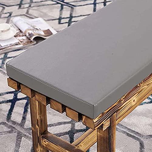 Waigg Kii - Cuscino per panca da esterni, in pelle, impermeabile, 2/3 posti, per panca da giardino, 180 x 40 x 3 cm, colore: grigio chiaro