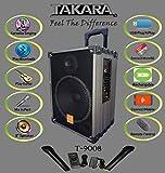 TAKARA Karaoke Speaker T-9008 Portable Trolley 8 Inch Woofer Multimedia Bluetooth Speaker,