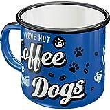 Nostalgic-Art 43212 - Tazza in stile retrò, smaltata, con scritta 'Cool Dogs', idea regalo per gli amanti dei cani, tazza da campeggio, 360 ml