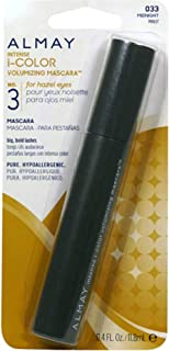 Almay Intense I-Color Volumizing Mascara For Hazel Eyes, Midnight [033] 0.4 oz (Pack of 2)