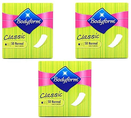 THREE PACKS of Bodyform Classic Pantyliners x 50 by Bodyform