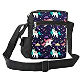 LIMIT Fashion Store - Unicorn Designer Cross Body Messenger Sling Bag Travel Office Business one Side Shoulder Bag for Girls/Women (25x18x7.5cm)
