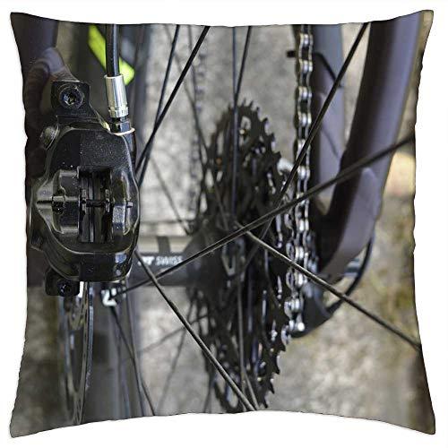 LESGAULEST Throw Pillow Cover (16x16 inch) - Brake Brake Disc Disc Brake Mountain Bike