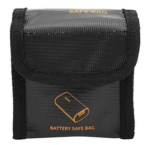 Dilwe Estuche para batería para Drones, Fibra Retardante de Llama, Bolsa de Seguridad a Prueba de explosiones, Protector de batería Compatible con dji Combo(Dos baterias)