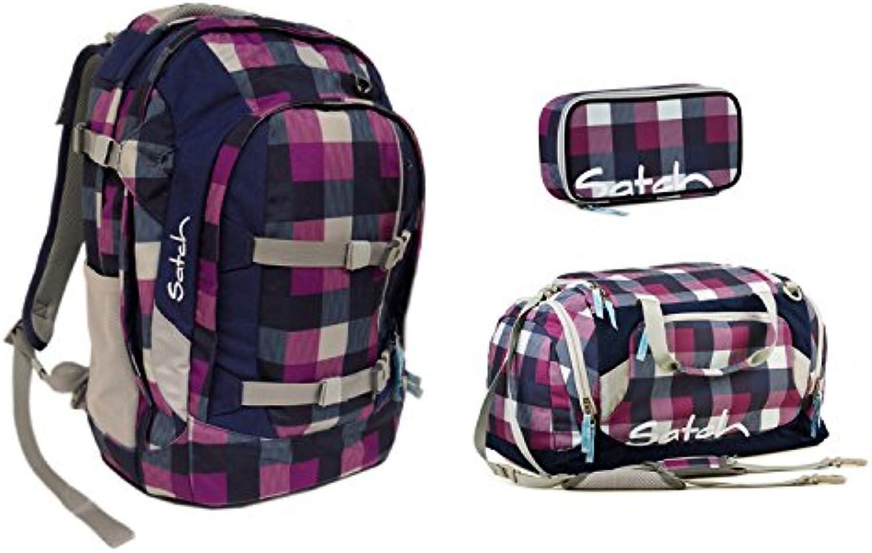 Satch by Ergobag - Schulrucksack Set 3tlg. Berry Carry