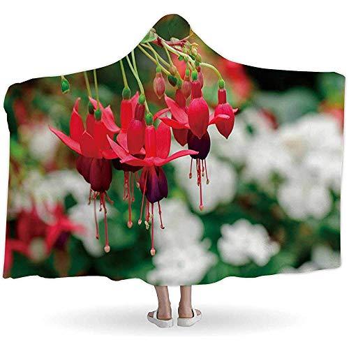 BeiBao-shop der schönen Fuchsia magellanica Blume, mit Kapuze BlanketsHummingbird Fuchsia oder Hardy Fuchsia