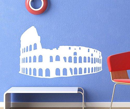 Wandtattoo Colloseum von Rom Aufkleber Gladiator Wand Dekoration Sticker 1M339, Farbe:Lindgrün glanz;Breite:85 cm