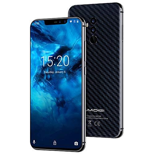 "UMIDIGI A5 Pro Smartphone Libres Teléfono Inteligente Dual SIM 2 + 1 Ranuras para Tarjetas 6.3"" FHD + 4GB RAM 32GB ROM Teléfono móvil 16MP + 8MP + 5MP Cámara 4150mAh Batería Android 9 Pie [Azul]"