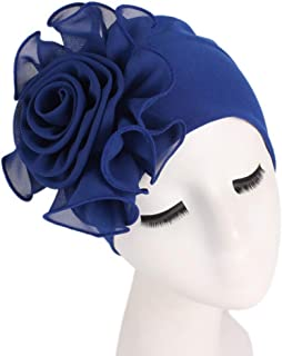Eforstore Chemotherapy Hat Pastoral Small Floral Twist Cap Cotton Turban Cap Chemotherapy Cap Turban Band Scarf Sleep Headwear Hat Elastic Headwear Turban Head Scarves Cap