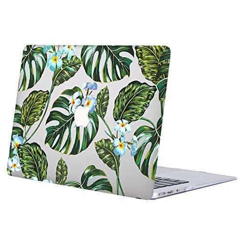ACJYX MacBook Pro 13 inch Case 2020 2019 2018 2017 2016 Release A2289 A2251 A2159 A1989 A1708 A1706 Smooth Plastic Protective Shell with Patterns Laptop Cover for MacBook Pro 13', Green Leaf