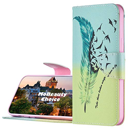 MoBeautyChoice Cover per LG K5 [con Pellicola in Vetro], Magnetico Libro PU Pelle Portafoglio Custodia Wallet Flip Cover Caso con Supporto di Stand/Carte Slot (Piuma)