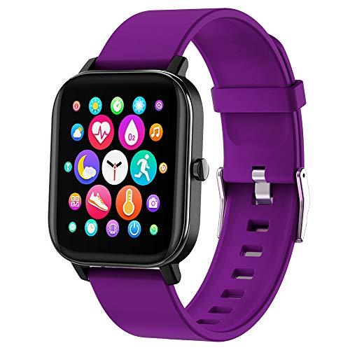 FirYawee Smart Watch,1.4' Full Touch Screen Smartwatch,Waterproof IP68 Fitness Tracker...