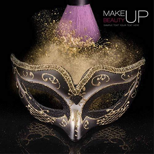 YULEJIA Maskerade Maskers Voor Vrouwen, Venetië Halloween Koppels Party Zwarte Kinderen Tekenen Half Gezicht Kunststof Masker Carnaval Cosplay Mardi Gras Masker Prom Artiesten Wanddecoratie