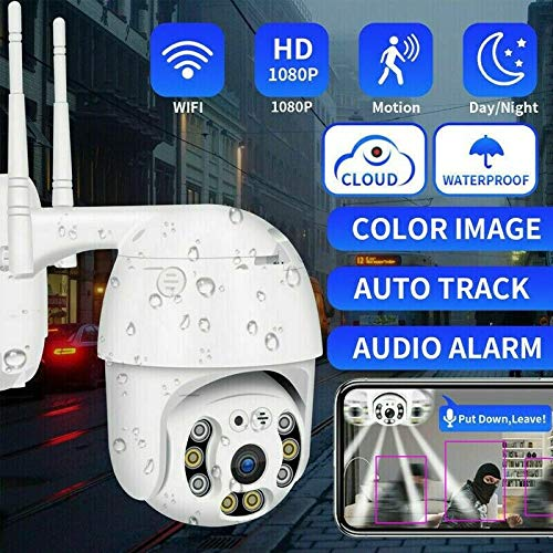 FLM TELECAMERA ESTERNA FULL HD 1080P 2020 WIRELESS IP PTZ PER VIDEOSORVEGLIANZA WIFI